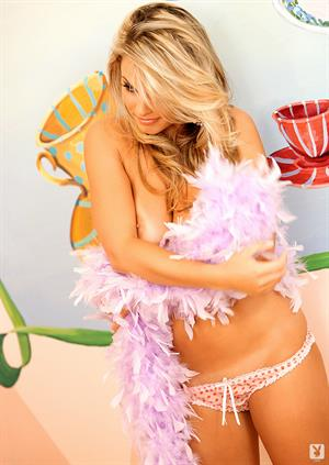 Courtney Culkin nude with a feather boa