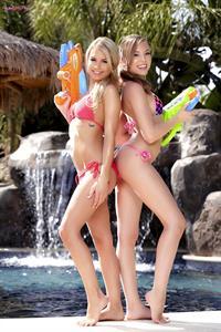 Super Soak-It-Up.. featuring Aubrey Star, Kendall Kayden | Twistys.com