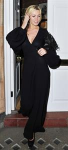 Abigail Clancy leaving Harry's Bar London on July 13, 2011
