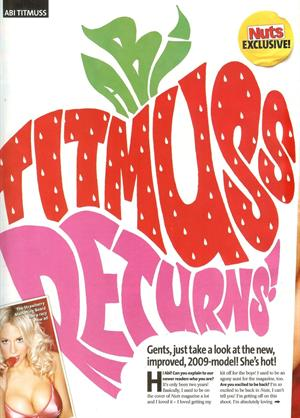 Abi Titmuss Nuts scans 10/04/2009