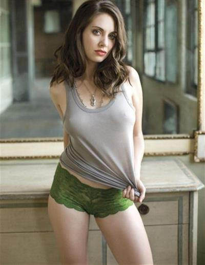 Alison Brie in lingerie - breasts