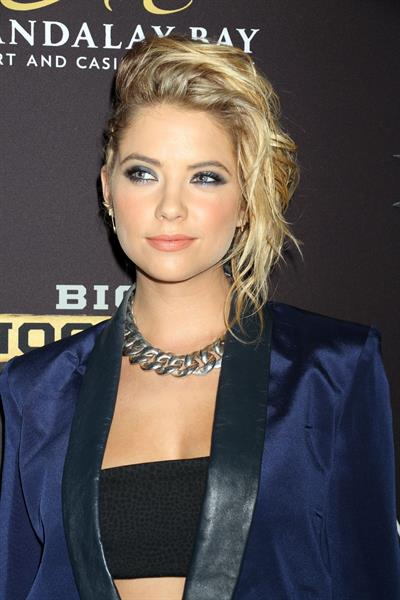 Ashley Benson Big Knockout Boxing inaugural event in Las Vegas August 16, 2014