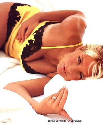 Ulrika Jonsson in lingerie