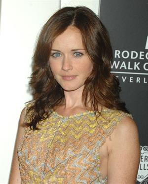 Alexis Bledel Rodeo Srive Walk of Style Award honoring Iman and Missoni on October 23, 2011