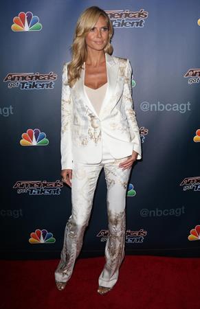 Heidi Klum at Americas Got Talent post show red carpet on August 13, 2014