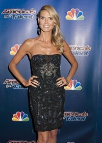 Heidi Klum at Americas Got Talent season 9 post show red carpet event on August 6, 2014