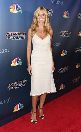 Heidi Klum at Americas Got Talent season 9 post show red carpet event on July 30, 2014