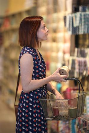 Alyson Hannigan Shopping at Paper Source in Santa Monica - May 2nd, 2014