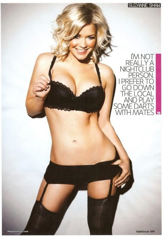 Suzanne Shaw in lingerie