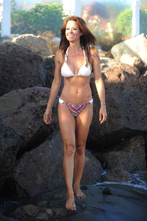 Brooke Burke ~ Bikini at the beach, Malibu, Aug 13, 2014