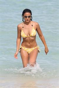 Emmanuelle Chriqui Bikini candids in Miami, 29 Aug 2013