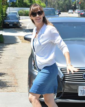 Jennifer Garner leaves a private party in Brentwood on August 10, 2014