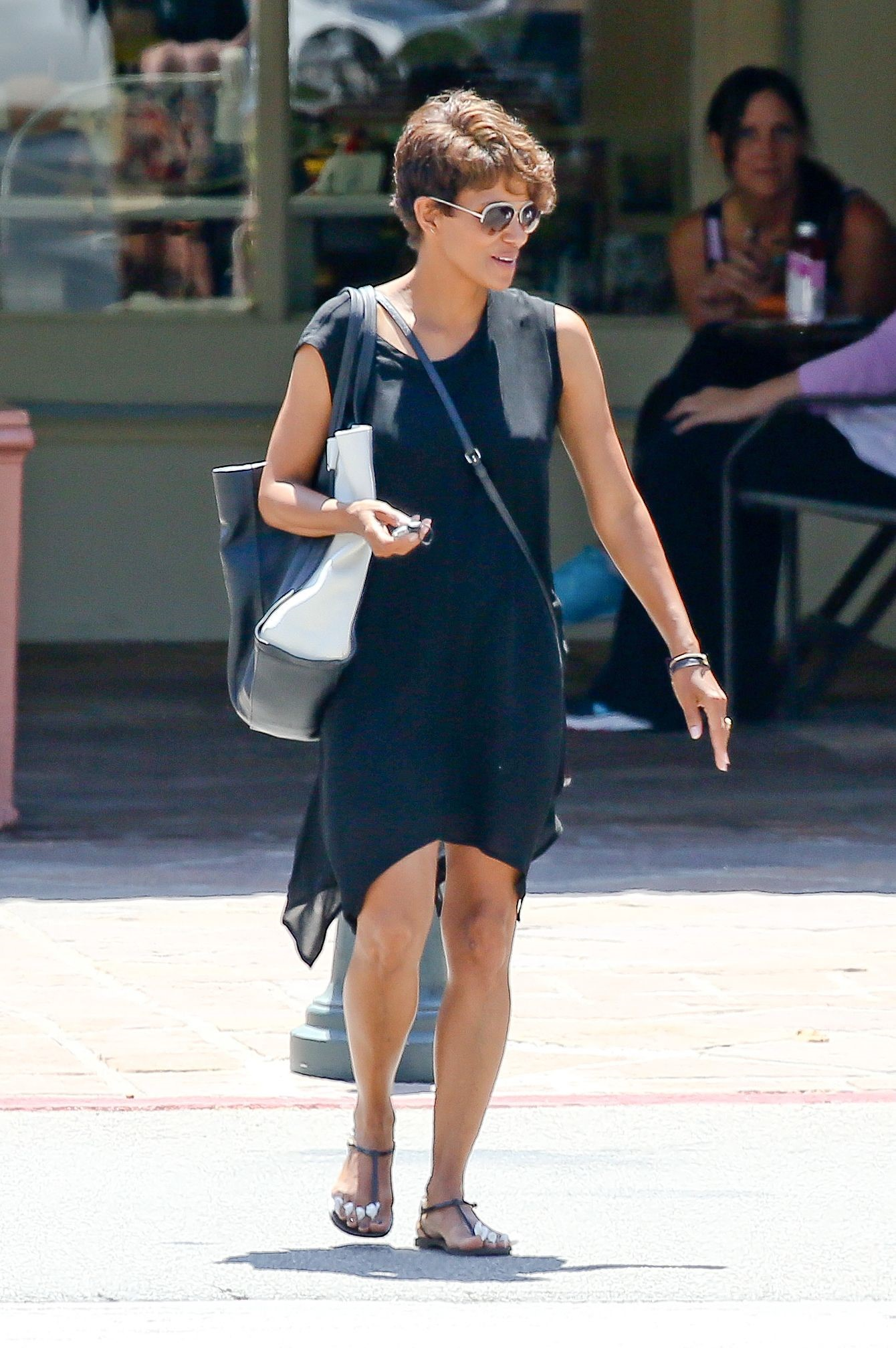 Halle Berry at local nail spa in Malibu August 12, 2014