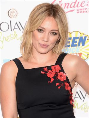 Hilary Duff attending the 2014 Teen Choice Awards in Los Angeles on August 10, 2014