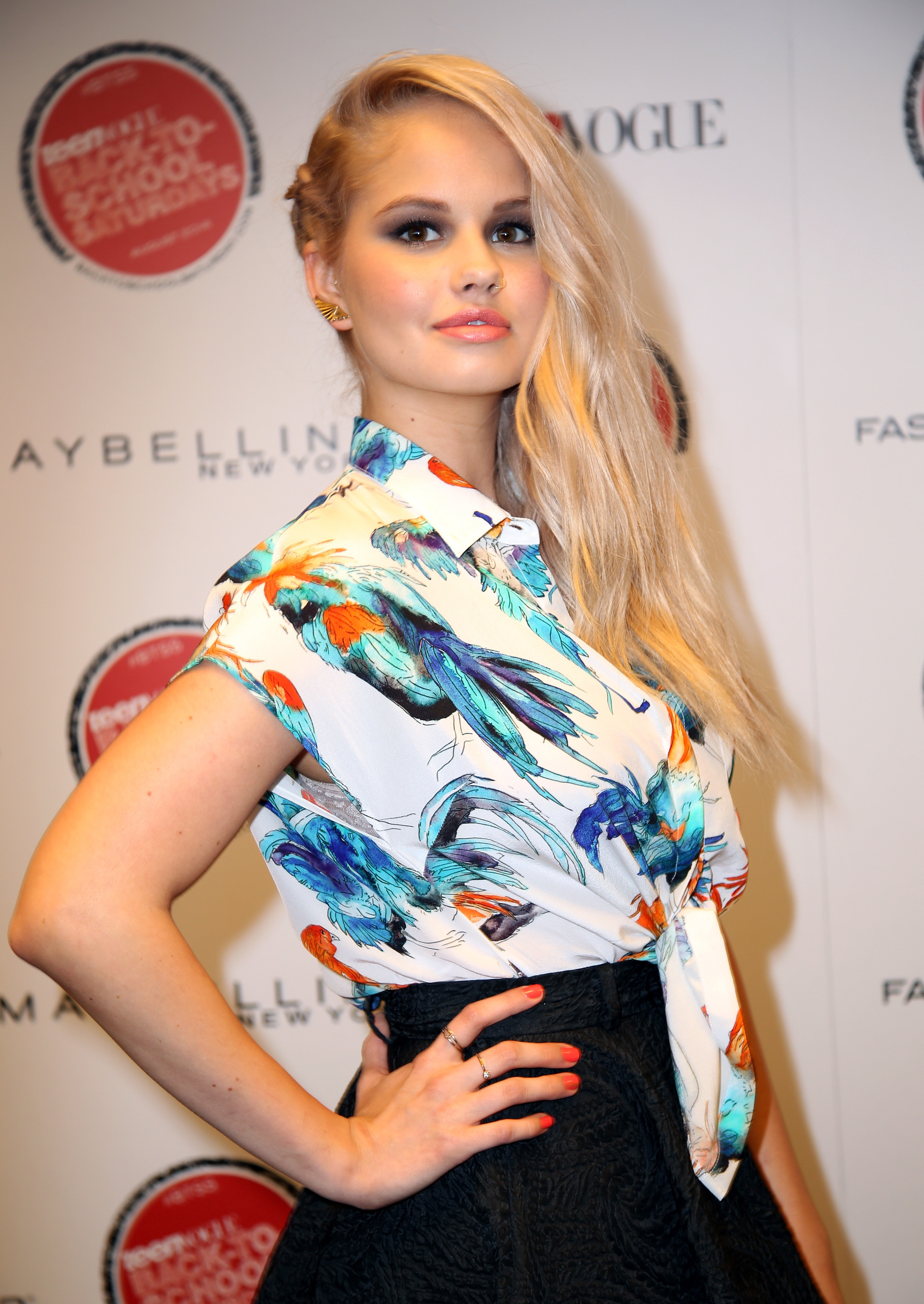 Debby Ryan attending the Teen Vogues 3rd Annual Back-to-School Saturday Kickoff Event on August 8, 2014