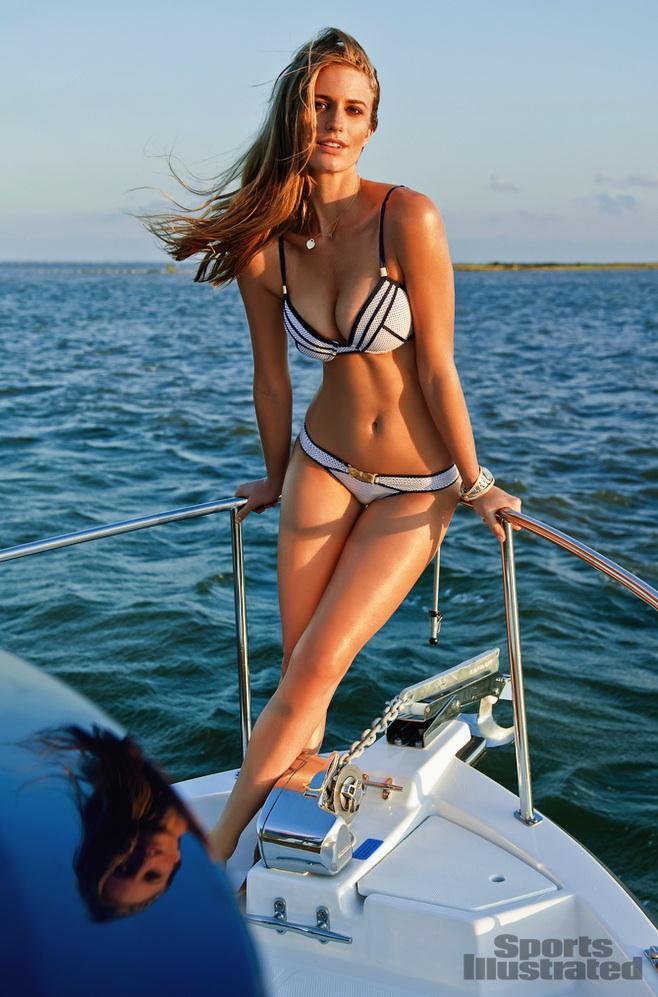 Julie Henderson in a bikini