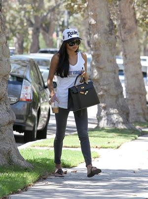 Naya Rivera on her way to a friends house in West Hollywood August 05, 2014