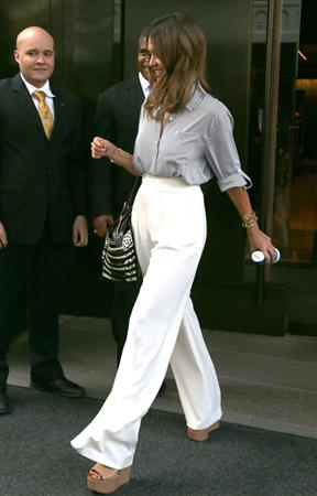 Jessica Alba out and about in NYC August 05, 2014