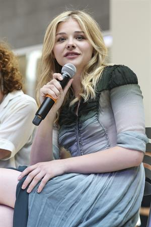Chloe Grace Moretz attends a QA session Promoting  If I Stay in Seattle