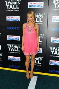 Charlotte Ross at the premiere of When The Game Stands Tall on August 4, 2014