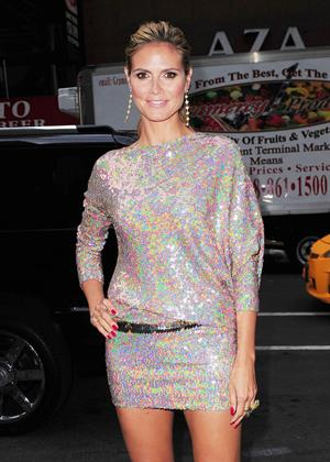 Heidi Klum arrives at The Today Show in New York on April 8, 2013