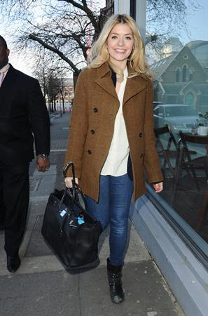 Holly Willoughby Riverside studios in London, March 13, 2013