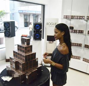 Rihanna Promotes her new perfume 'Rogue' in Barbados 31.10.13