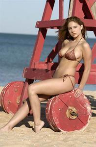Emily Angel in a bikini