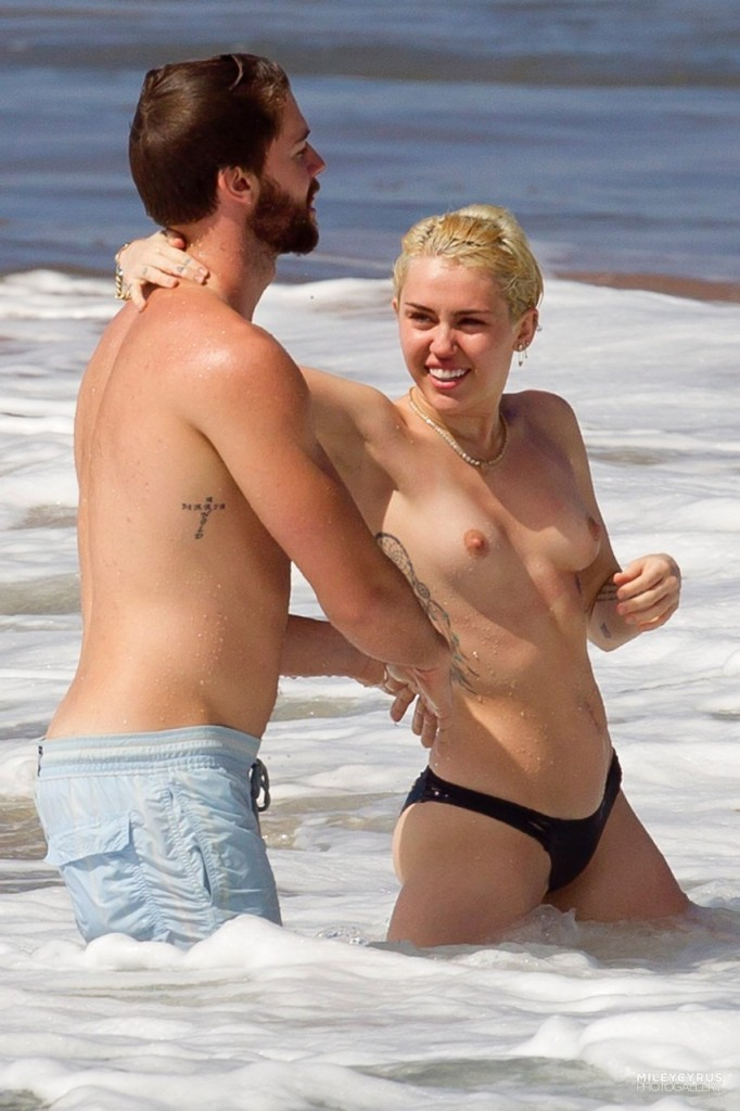 Miley Cyrus Topless In Maui