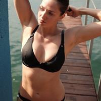 Alena Zavarzina in a bikini