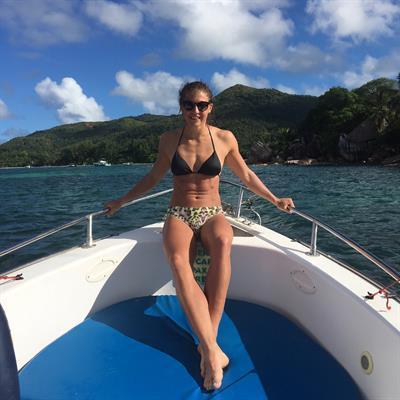Greta Laurent in a bikini