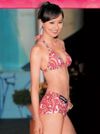 Fala Chen in a bikini