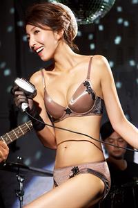 Cheryl Yang in lingerie