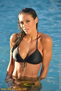 Janet Layug in a bikini