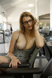 Ursula Hall Busty Chick with Glasses