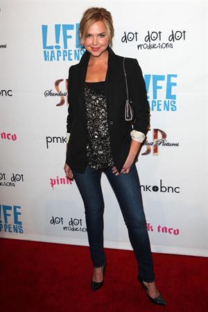 Arielle Kebbel attends the Life Happens Los Angeles premiere on April 2, 2012