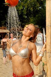 Dorota Rabczewska in a bikini