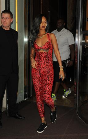 Rihanna - Shows off her toned physique in London in a $198 Adidas Originals Opening Ceremony (19.07.2013)