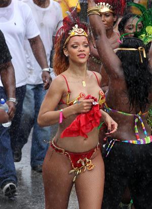 Rihanna - Kadooment parade in Barbados 8/1/11
