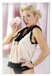 Jessica Kiper in lingerie