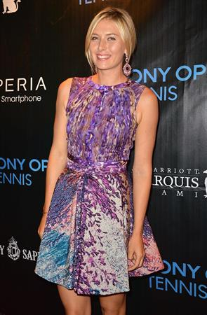 Maria Sharapova arrives at Sony Open Player Party 2013 at JW Marriott Marquis in Miami March 19, 2013