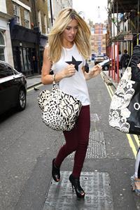 Abigail Clancy in Soho London on Aug 16, 2011
