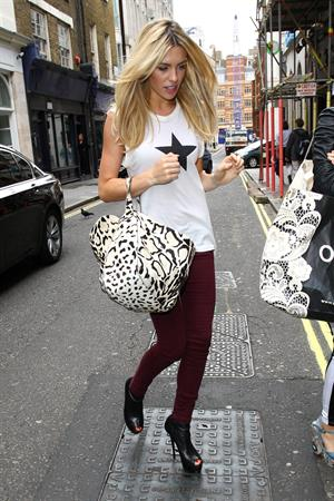 Abigail Clancy in Soho London on Aug 16, 2011