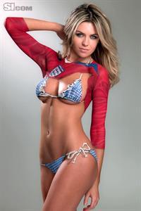 Abigail Clancy in a bikini in body paint