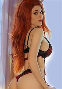 Amouranth in lingerie