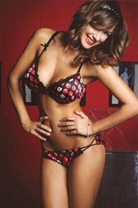 Melita Toniolo in lingerie