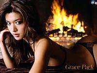 Grace Park in a bikini