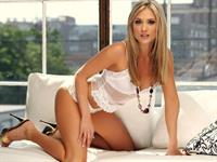 Amanda Corey in lingerie