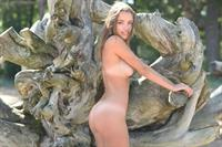 Maxa Saloma nude in a forest