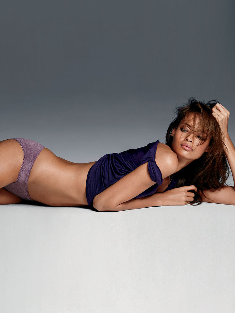 Malaika Firth in lingerie